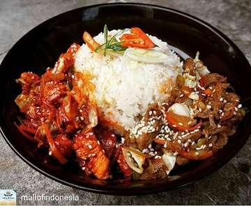 #REGRAM Bulgogi Dakgalbi only at Hong Dae Ramyon The real korean taste @pasarmoi . . #hongdaeramyon #realkoreantaste #koreanfood #kulinerjakarta #kulinerkelapagading #kelapagading #foodgasm