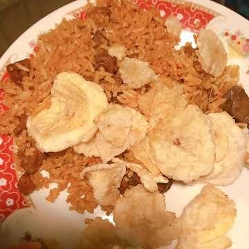 My late night supper.. Mutton Fried Rice from @nasigorengkambingkebonsirih_  I ordered half portion though ☺️ . . 💰: 30k 📍: Kebon Sirih, Jakarta Pusat . . . #nasigorengkambing #nasgor #nasigorengkambingkebonsirih #friedrice #muttonfriedrice #supper #instafoodie #foodstagram #jktfoodlover #jktfoodbang #jktfoodblogger #realfood #kulinerindonesia