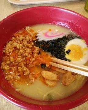 #spicysobororamen #wateishokuyamakawaya #aeonmallbsdcity #instafood #lunch
